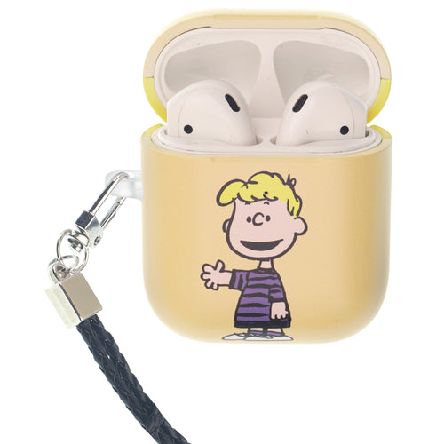 Peanuts AirPods Case Neck Lanyard Hard PC Shell Strap Hole Cover - Happy Schroeder