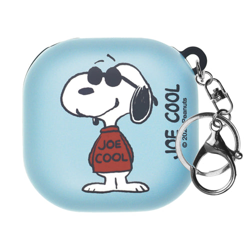 Peanuts Galaxy Buds Live Case (2020) Key Ring Keychain Key Holder Hard PC Shell Cover - Happy Snoopy JOE COOL