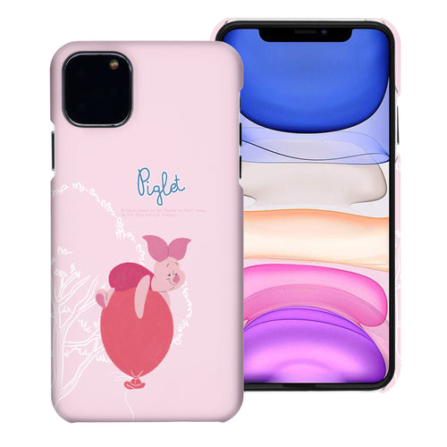 iPhone 11 Pro Max Case (6.5inch) [Slim Fit] Disney Pooh Thin Hard Matte Surface Excellent Grip Cover - Balloon Piglet