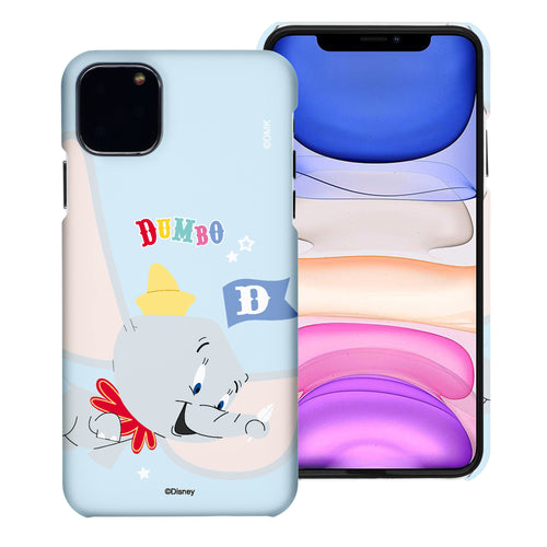 iPhone 12 mini Case (5.4inch) [Slim Fit] Disney Dumbo Thin Hard Matte Surface Excellent Grip Cover - Dumbo Fly