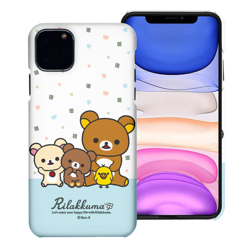 iPhone 11 Pro Max Case (6.5inch) [Slim Fit] Rilakkuma Thin Hard Matte Surface Excellent Grip Cover - Rilakkuma Friends