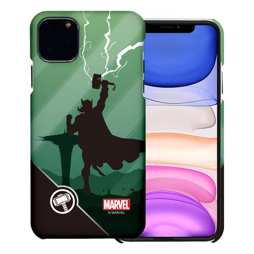 iPhone 11 Case (6.1inch) Marvel Avengers [Slim Fit] Thin Hard Matte Surface Excellent Grip Cover - Shadow Thor