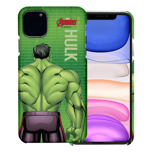 iPhone 11 Case (6.1inch) Marvel Avengers [Slim Fit] Thin Hard Matte Surface Excellent Grip Cover - Back Hulk