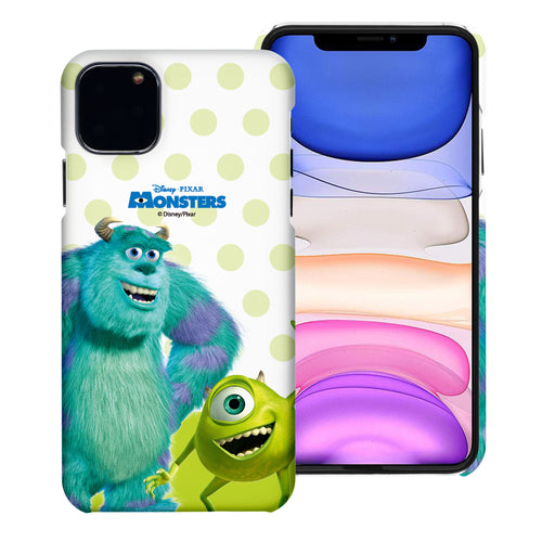 iPhone 11 Case (6.1inch) [Slim Fit] Monsters University inc Thin Hard Matte Surface Excellent Grip Cover - Movie Mike Sulley