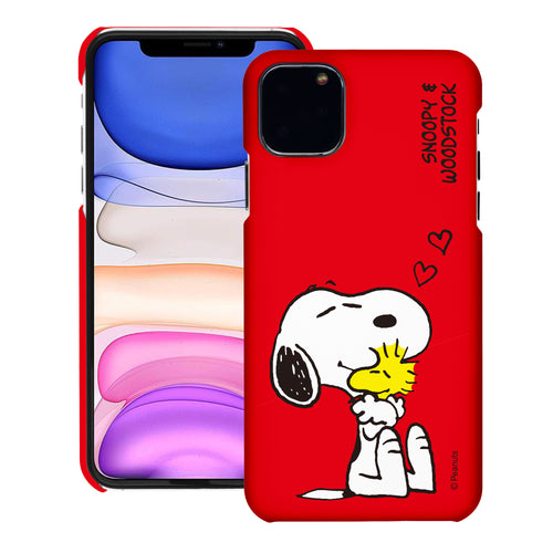 iPhone 12 mini Case (5.4inch) [Slim Fit] PEANUTS Thin Hard Matte Surface Excellent Grip Cover - Smile Snoopy
