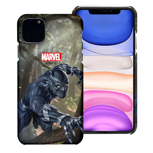 iPhone 12 Pro / iPhone 12 Case (6.1inch) Marvel Avengers [Slim Fit] Thin Hard Matte Surface Excellent Grip Cover - Black Panther Jungle