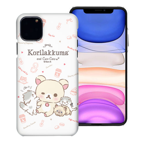 iPhone 11 Pro Max Case (6.5inch) [Slim Fit] Rilakkuma Thin Hard Matte Surface Excellent Grip Cover - Korilakkuma Cat