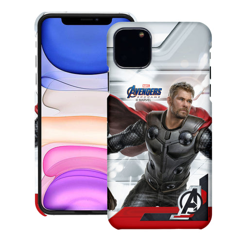 iPhone 12 Pro / iPhone 12 Case (6.1inch) Marvel Avengers [Slim Fit] Thin Hard Matte Surface Excellent Grip Cover - End Game Thor
