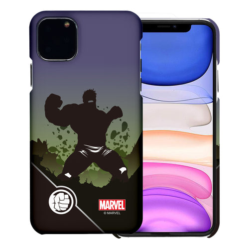iPhone 11 Case (6.1inch) Marvel Avengers [Slim Fit] Thin Hard Matte Surface Excellent Grip Cover - Shadow Hulk