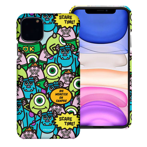 iPhone 11 Case (6.1inch) [Slim Fit] Monsters University inc Thin Hard Matte Surface Excellent Grip Cover - Pattern Face