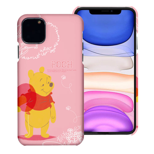 iPhone 12 mini Case (5.4inch) [Slim Fit] Disney Pooh Thin Hard Matte Surface Excellent Grip Cover - Balloon Pooh Ground