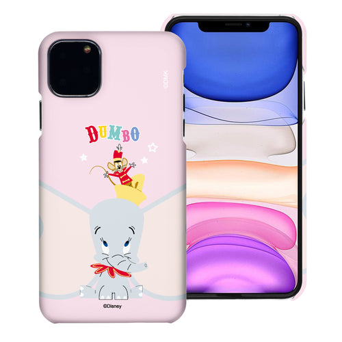 iPhone 12 mini Case (5.4inch) [Slim Fit] Disney Dumbo Thin Hard Matte Surface Excellent Grip Cover - Dumbo Overhead