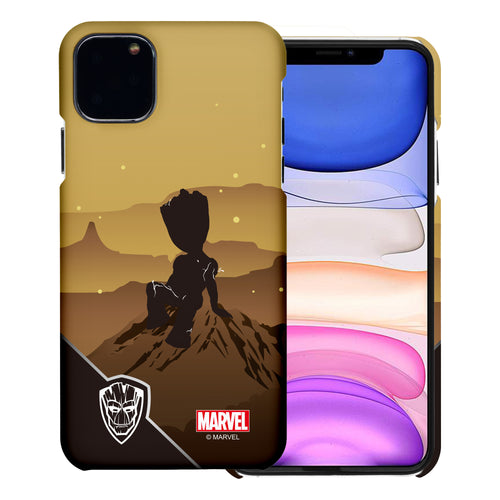iPhone 12 Pro / iPhone 12 Case (6.1inch) Marvel Avengers [Slim Fit] Thin Hard Matte Surface Excellent Grip Cover - Shadow Groot