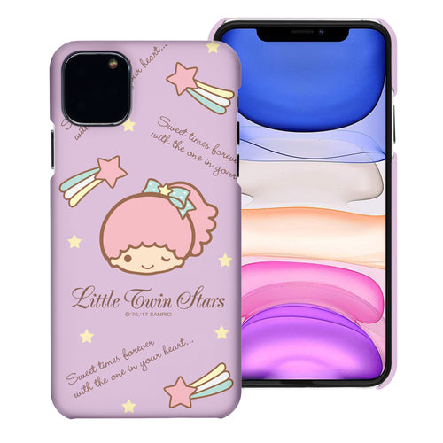 iPhone 11 Case (6.1inch) [Slim Fit] Sanrio Thin Hard Matte Surface Excellent Grip Cover - Icon Little Twin Stars Lala