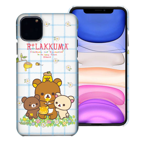 iPhone 11 Pro Max Case (6.5inch) [Slim Fit] Rilakkuma Thin Hard Matte Surface Excellent Grip Cover - Rilakkuma Honey