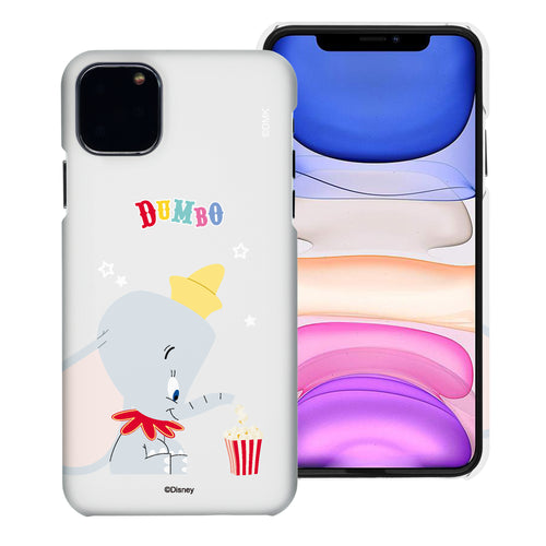iPhone 12 mini Case (5.4inch) [Slim Fit] Disney Dumbo Thin Hard Matte Surface Excellent Grip Cover - Dumbo Popcorn