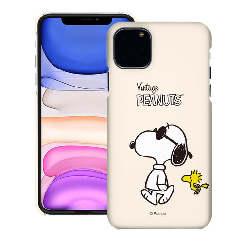 iPhone 11 Pro Case (5.8inch) [Slim Fit] PEANUTS Thin Hard Matte Surface Excellent Grip Cover - Vivid Snoopy Woodstock