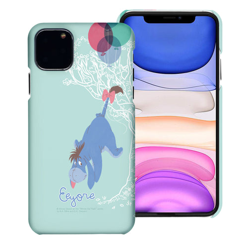 iPhone 12 mini Case (5.4inch) [Slim Fit] Disney Pooh Thin Hard Matte Surface Excellent Grip Cover - Balloon Eeyore