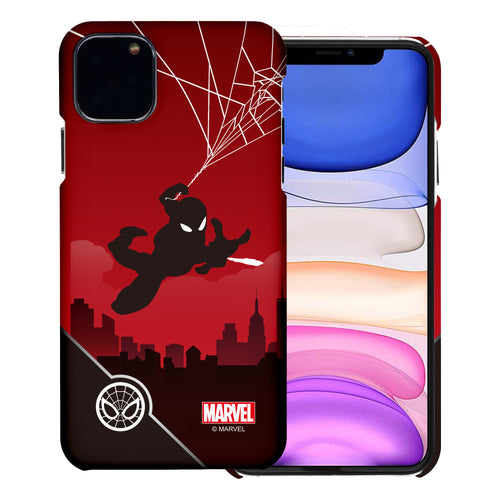 iPhone 12 Pro / iPhone 12 Case (6.1inch) Marvel Avengers [Slim Fit] Thin Hard Matte Surface Excellent Grip Cover - Shadow Spider Man