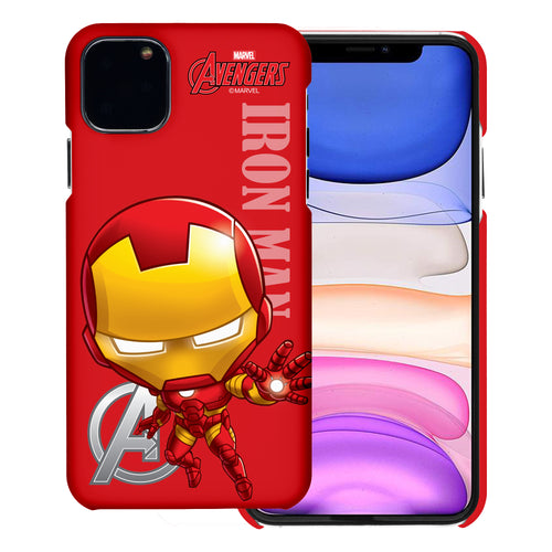 iPhone 11 Case (6.1inch) Marvel Avengers [Slim Fit] Thin Hard Matte Surface Excellent Grip Cover - Mini Iron Man