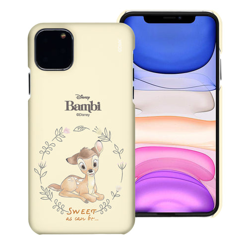 iPhone 12 mini Case (5.4inch) [Slim Fit] Disney Bambi Thin Hard Matte Surface Excellent Grip Cover - Full Bambi