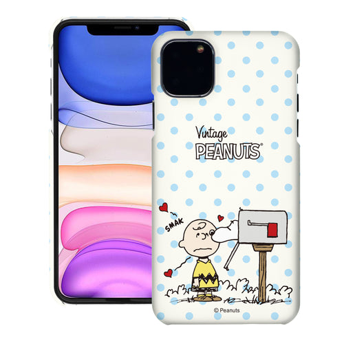 iPhone 11 Pro Case (5.8inch) [Slim Fit] PEANUTS Thin Hard Matte Surface Excellent Grip Cover - Smack Charlie Brown Mailbox