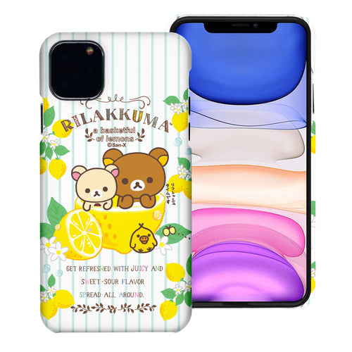 iPhone 11 Pro Max Case (6.5inch) [Slim Fit] Rilakkuma Thin Hard Matte Surface Excellent Grip Cover - Rilakkuma Lemon
