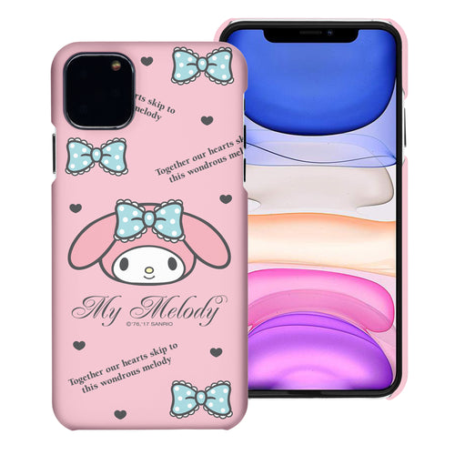 iPhone 11 Case (6.1inch) [Slim Fit] Sanrio Thin Hard Matte Surface Excellent Grip Cover - Icon My Melody