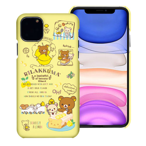 iPhone 11 Pro Max Case (6.5inch) [Slim Fit] Rilakkuma Thin Hard Matte Surface Excellent Grip Cover - Rilakkuma Cooking
