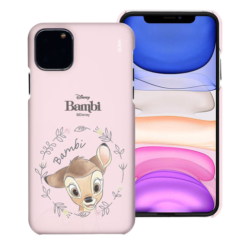 iPhone 12 mini Case (5.4inch) [Slim Fit] Disney Bambi Thin Hard Matte Surface Excellent Grip Cover - Face Bambi