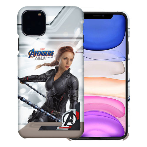 iPhone 12 Pro / iPhone 12 Case (6.1inch) Marvel Avengers [Slim Fit] Thin Hard Matte Surface Excellent Grip Cover - End Game Black Widow