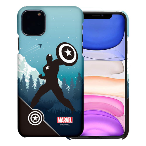 iPhone 12 Pro / iPhone 12 Case (6.1inch) Marvel Avengers [Slim Fit] Thin Hard Matte Surface Excellent Grip Cover - Shadow Captain America
