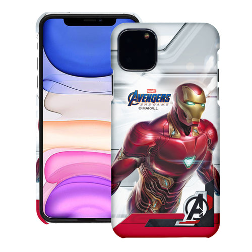iPhone 11 Case (6.1inch) Marvel Avengers [Slim Fit] Thin Hard Matte Surface Excellent Grip Cover - End Game Iron Man
