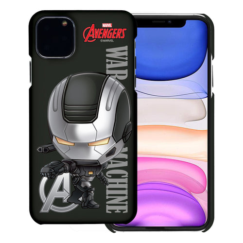 iPhone 11 Case (6.1inch) Marvel Avengers [Slim Fit] Thin Hard Matte Surface Excellent Grip Cover - Mini War Machine