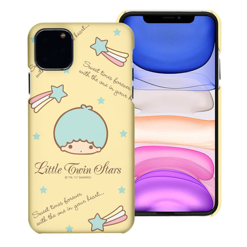 iPhone 11 Case (6.1inch) [Slim Fit] Sanrio Thin Hard Matte Surface Excellent Grip Cover - Icon Little Twin Stars Kiki