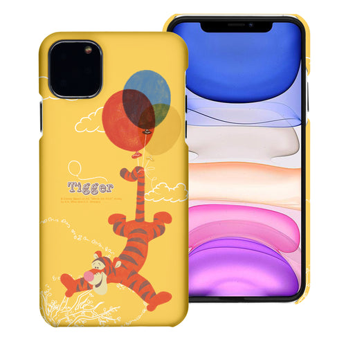 iPhone 11 Pro Max Case (6.5inch) [Slim Fit] Disney Pooh Thin Hard Matte Surface Excellent Grip Cover - Balloon Tigger