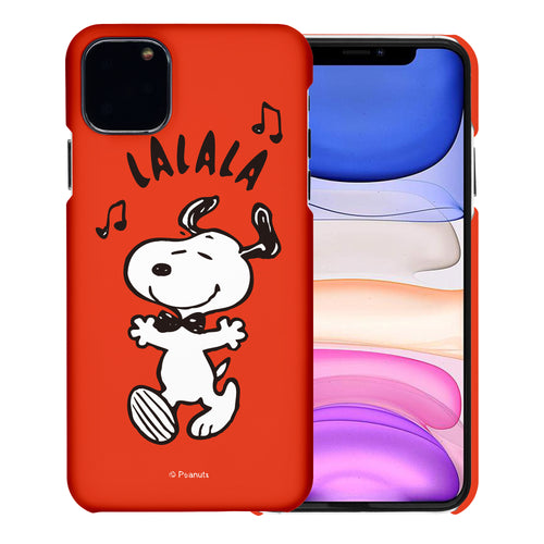 iPhone 11 Pro Case (5.8inch) [Slim Fit] PEANUTS Thin Hard Matte Surface Excellent Grip Cover - Snoopy Lalala
