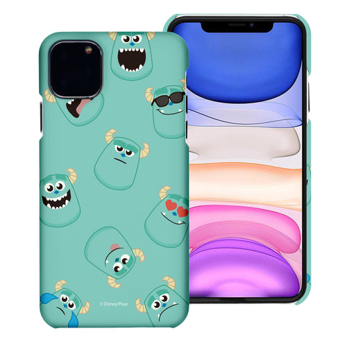iPhone 11 Case (6.1inch) [Slim Fit] Monsters University inc Thin Hard Matte Surface Excellent Grip Cover - Pattern Sulley