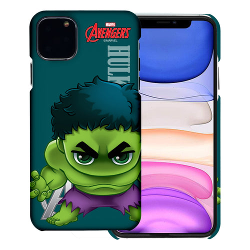 iPhone 12 Pro / iPhone 12 Case (6.1inch) Marvel Avengers [Slim Fit] Thin Hard Matte Surface Excellent Grip Cover - Mini Hulk