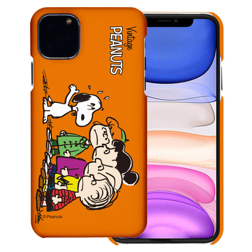 iPhone 11 Pro Case (5.8inch) [Slim Fit] PEANUTS Thin Hard Matte Surface Excellent Grip Cover - Cute Snoopy Friends