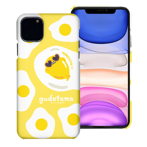iPhone 11 Case (6.1inch) [Slim Fit] Sanrio Thin Hard Matte Surface Excellent Grip Cover - Rest Gudetama Yellow