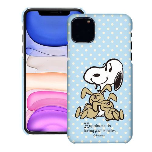 iPhone 12 mini Case (5.4inch) [Slim Fit] PEANUTS Thin Hard Matte Surface Excellent Grip Cover - Hug Snoopy Bunnies