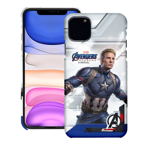 iPhone 12 Pro / iPhone 12 Case (6.1inch) Marvel Avengers [Slim Fit] Thin Hard Matte Surface Excellent Grip Cover - End Game Captain America