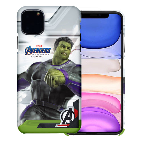 iPhone 12 Pro / iPhone 12 Case (6.1inch) Marvel Avengers [Slim Fit] Thin Hard Matte Surface Excellent Grip Cover - End Game Hulk