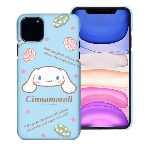 iPhone 11 Case (6.1inch) [Slim Fit] Sanrio Thin Hard Matte Surface Excellent Grip Cover - Icon Cinnamoroll