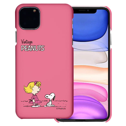 iPhone 11 Pro Case (5.8inch) [Slim Fit] PEANUTS Thin Hard Matte Surface Excellent Grip Cover - Small Snoopy Sally
