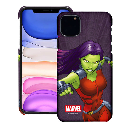 iPhone 11 Case (6.1inch) Marvel Avengers [Slim Fit] Thin Hard Matte Surface Excellent Grip Cover - Illustration Gamora