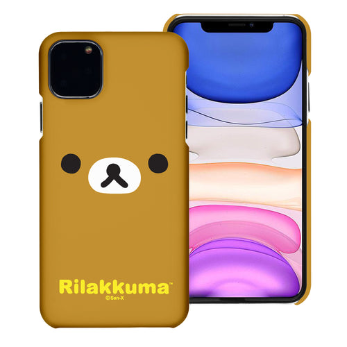 iPhone 11 Pro Max Case (6.5inch) [Slim Fit] Rilakkuma Thin Hard Matte Surface Excellent Grip Cover - Face Rilakkuma
