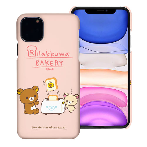 iPhone 11 Pro Max Case (6.5inch) [Slim Fit] Rilakkuma Thin Hard Matte Surface Excellent Grip Cover - Rilakkuma Toast