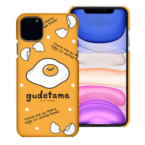 iPhone 12 mini Case (5.4inch) [Slim Fit] Sanrio Thin Hard Matte Surface Excellent Grip Cover - Icon Gudetama